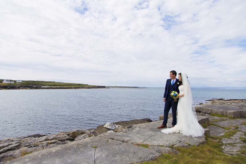 Destination Wedding Photography Ireland on the Aran Islands at Aran Islands Hotel with Áine and Cillin