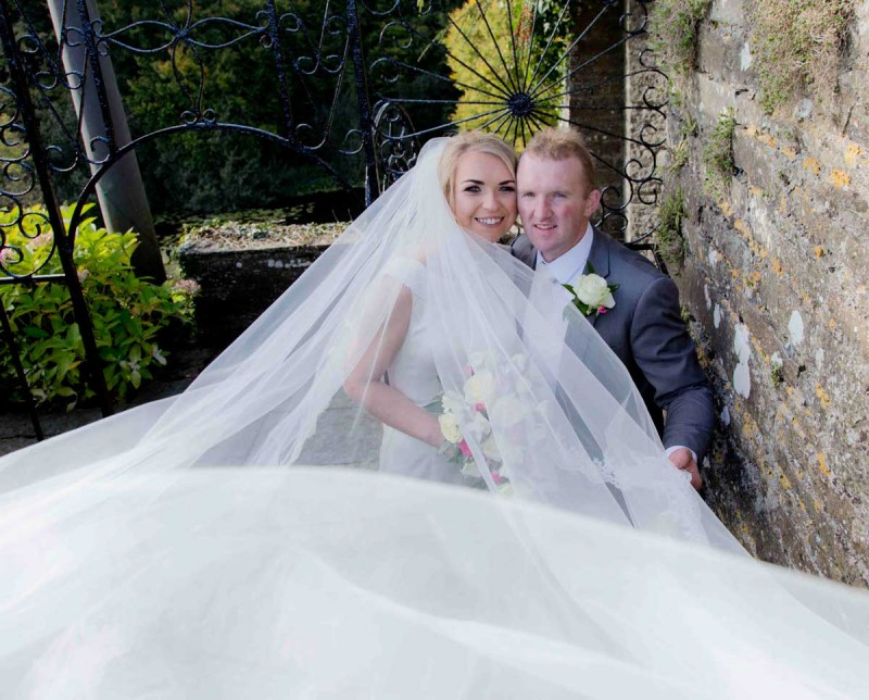 Wedding Photography in Heywood Gardens, Ballinakill and The Manor Hotel, Abbeyleix with Claire and Kevin