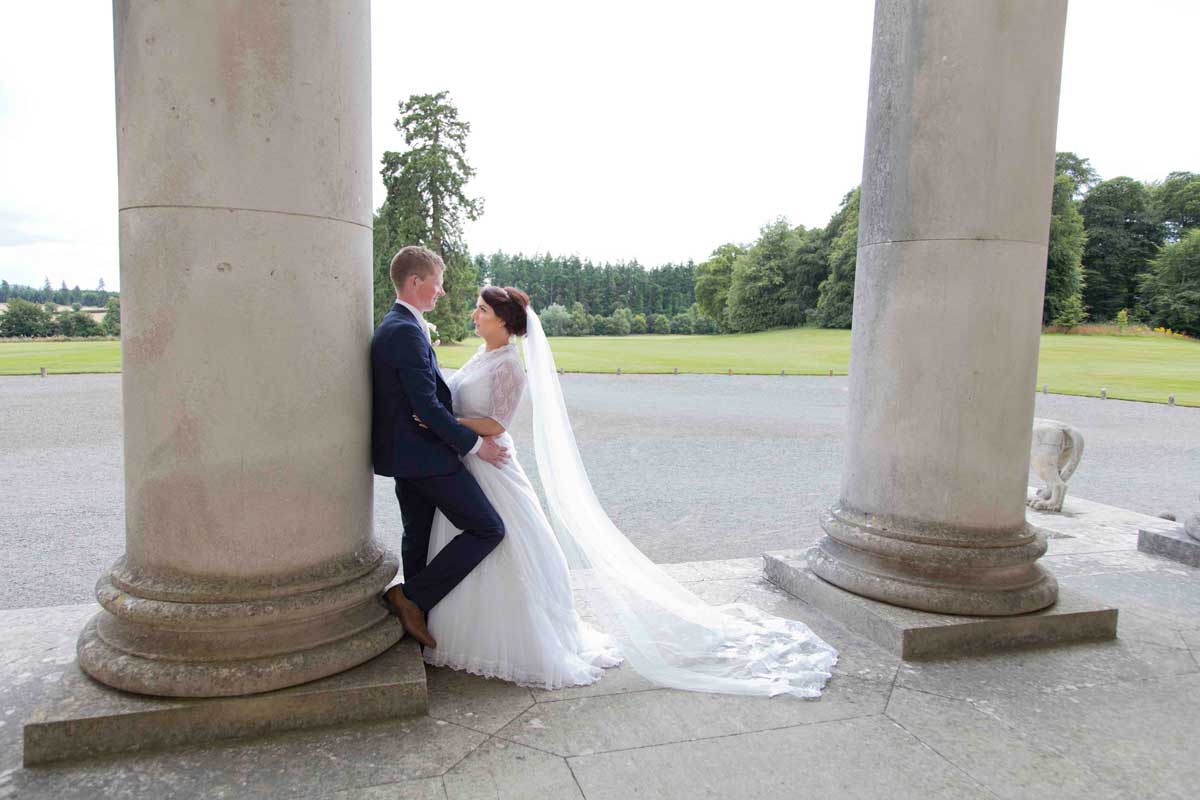Wedding photos at Emo Court and the Bridge House Hotel in Tullamore with Sinéad and Colm